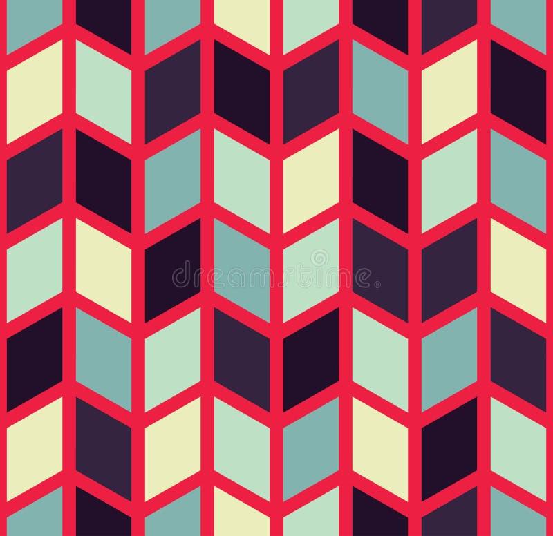 Vector o teste padrão colorido sem emenda moderno da viga da geometria, sumário da cor ilustração do vetor