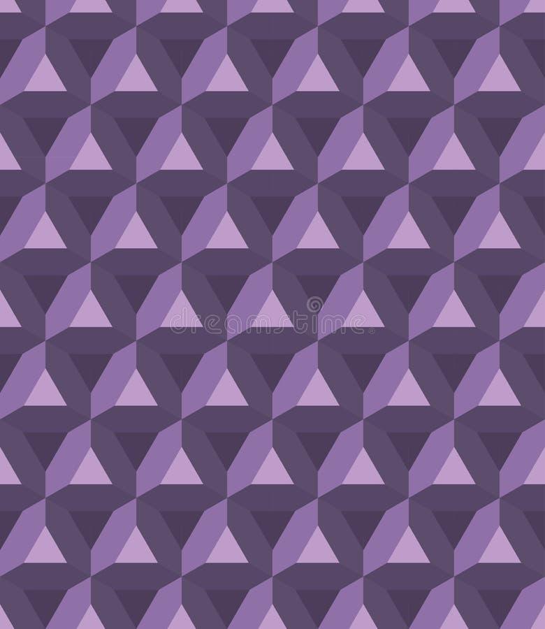 Vector o teste padrão colorido sem emenda moderno de prisma da geometria, sumário da cor ilustração stock