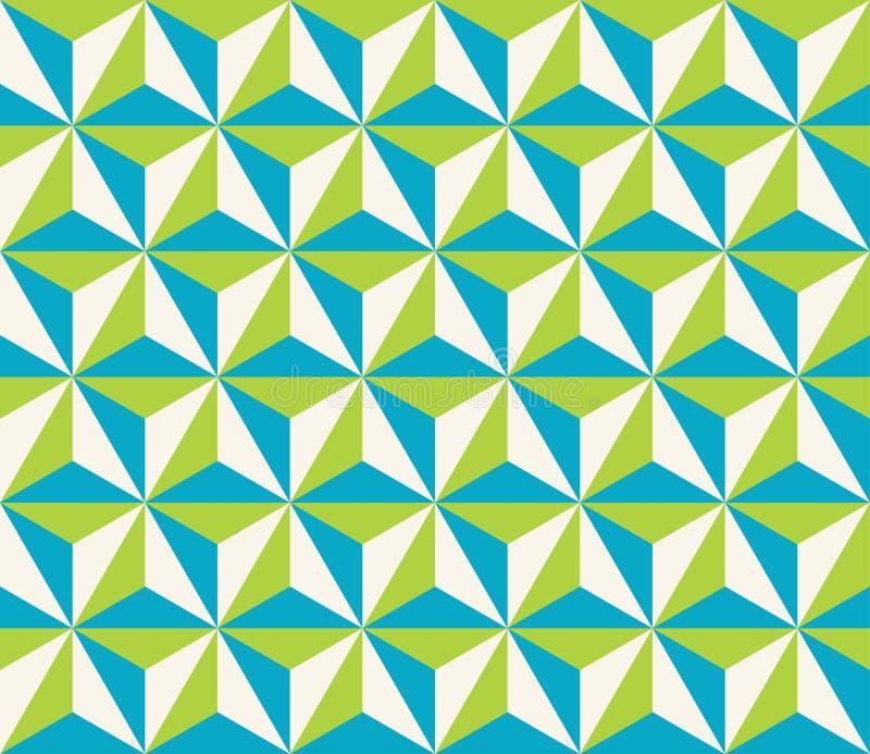 Vector o teste padrão colorido sem emenda moderno do hexágono do triangol da geometria ilustração do vetor