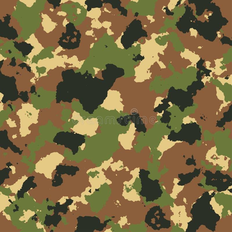 Vector o teste padrão da camuflagem das forças armadas em cores verdes e marrons ilustração royalty free