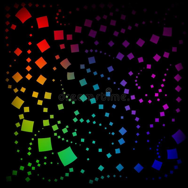 Vector o teste padrão dos rombos e dos quadrados no néon ilustração royalty free