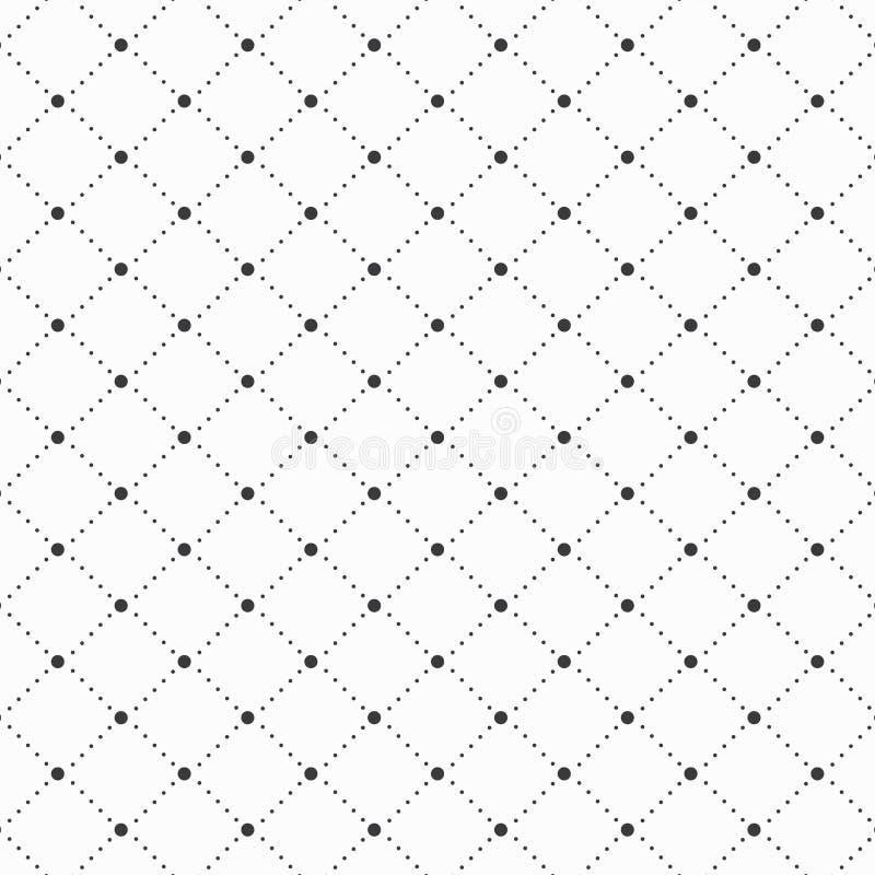 Vector o teste padrão, forma pontilhada do diamante decoram com círculo no centro ilustração royalty free