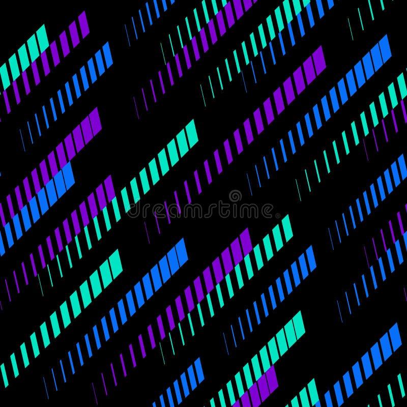 Vector o teste padrão geométrico com linhas de desvanecimento diagonais, trilhas, listras de intervalo mínimo Teste padrão dos es ilustração do vetor