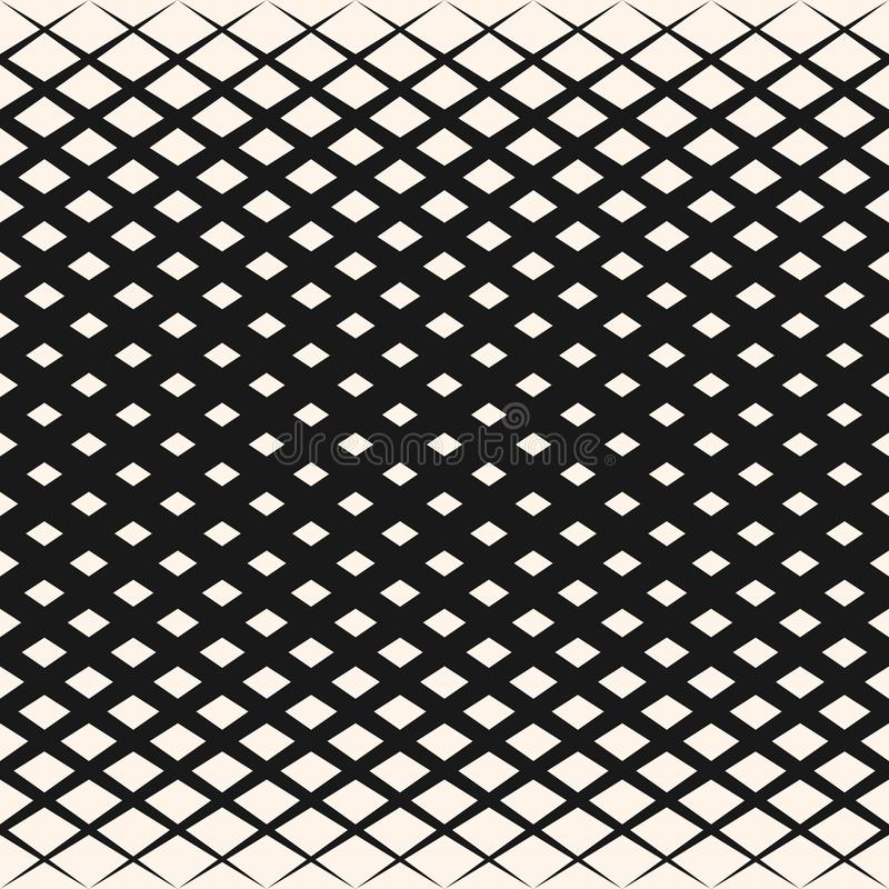 Vector o teste padrão geométrico de intervalo mínimo com rombos, formas do diamante, grade diagonal ilustração royalty free