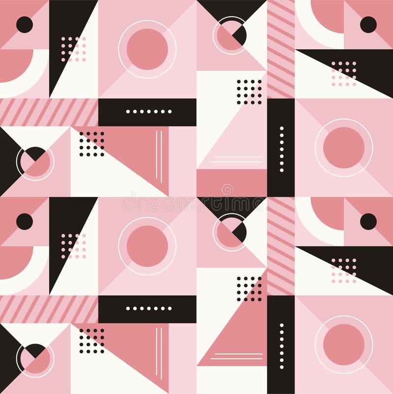 Vector o teste padrão sem emenda abstrato no estilo mínimo moderno na moda ilustração stock