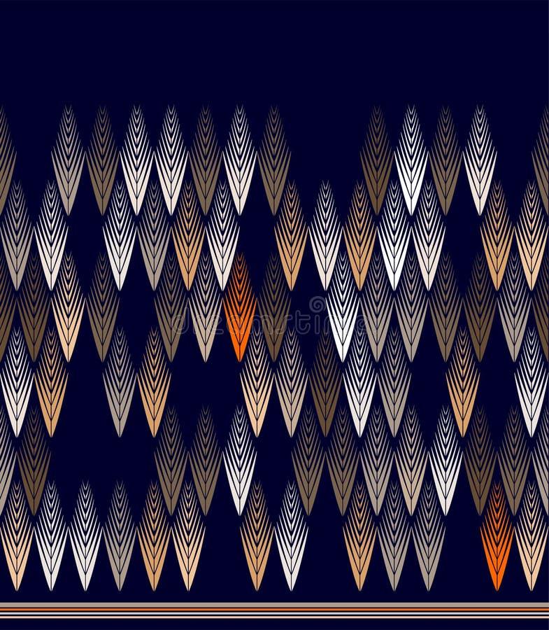 Vector o teste padrão sem emenda com elementos gráficos para imprimir na tela ilustração royalty free