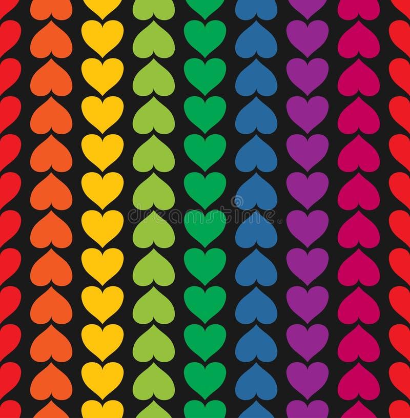 Vector o teste padrão sem emenda com gosto colorido corações ilustração royalty free
