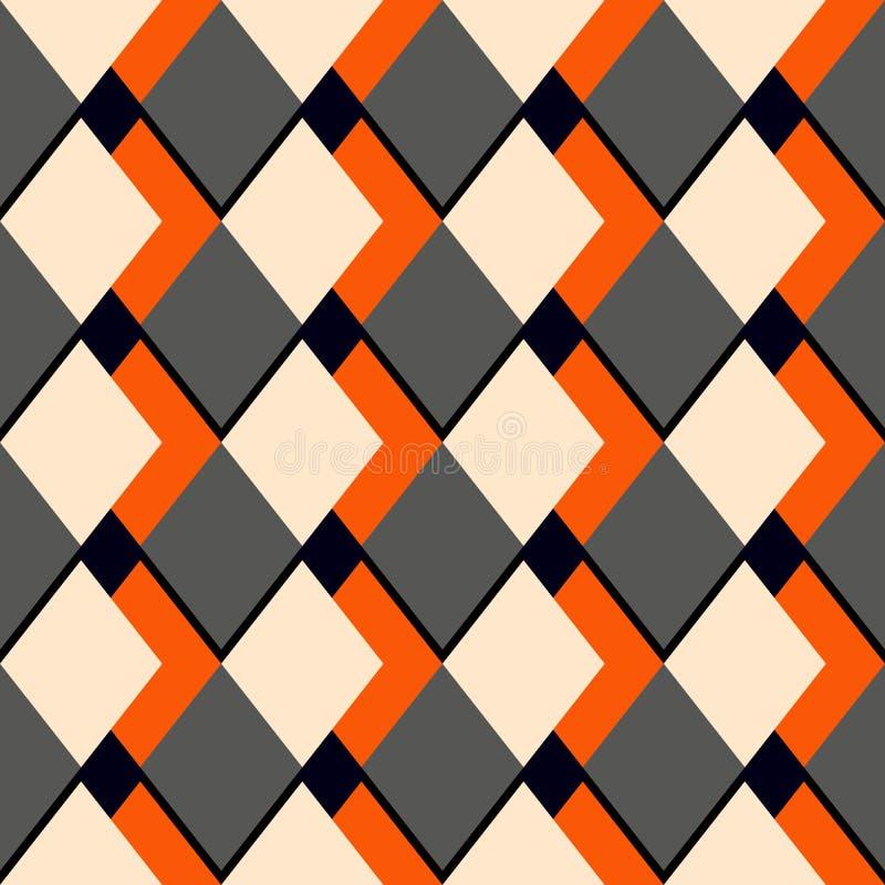 Vector o teste padrão sem emenda de mármore com linhas diagonais geométricas douradas E ilustração royalty free
