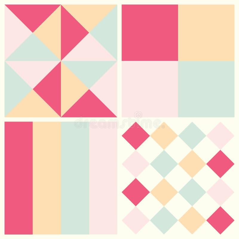 Vector o teste padrão sem emenda do fundo colorido com o diferente dado forma ilustração royalty free