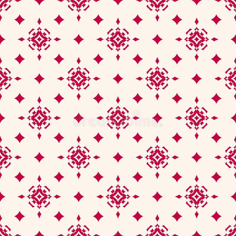 Vector o teste padrão sem emenda do Natal com formas da estrela, sparkles mágicos, diamantes ilustração royalty free