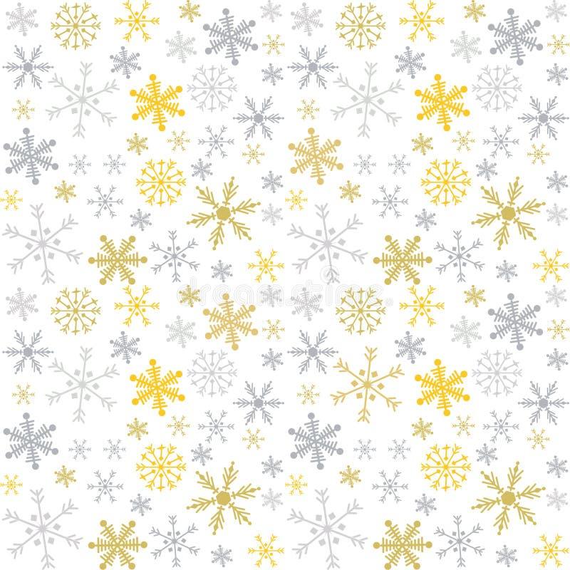 Vector o teste padrão sem emenda do Natal e do ano novo com flocos de neve ilustração do vetor