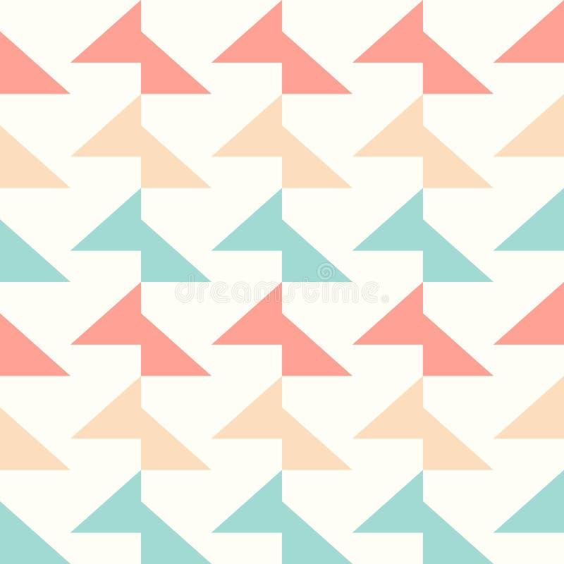 Vector o teste padrão sem emenda do triângulo colorido para o fundo ou o papel de parede ilustração stock