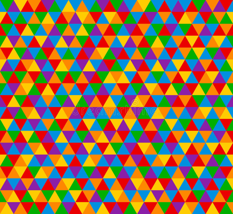 Vector o teste padrão sem emenda do triângulo, fundo em cores brilhantes ilustração royalty free