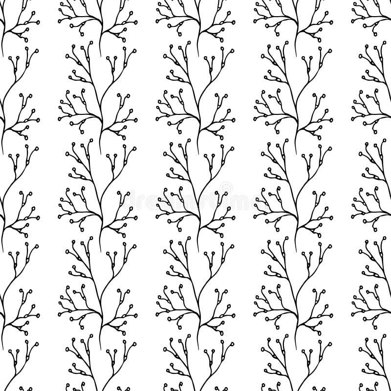 Vector o teste padrão sem emenda Fundo à moda floral Fundo à moda floral elegante ilustração stock