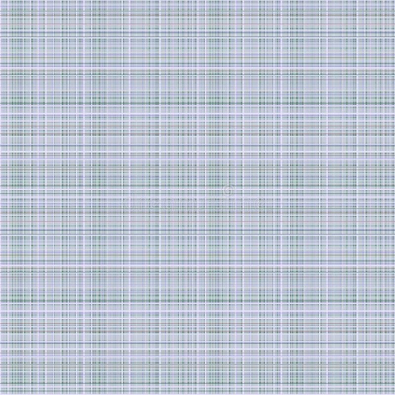 Vector o teste padrão sem emenda O fundo quadriculado pastel em cores azuis, amostra de folha da tela prova a textura do pano de  ilustração royalty free