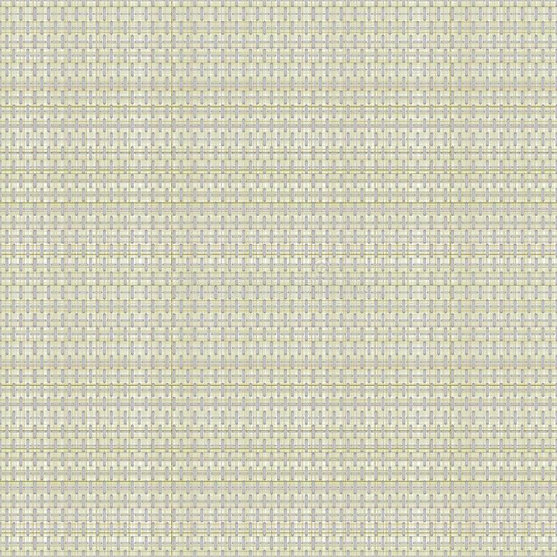Vector o teste padrão sem emenda O fundo quadriculado pastel em cores bege, amostra de folha da tela prova a textura de lã ilustração do vetor