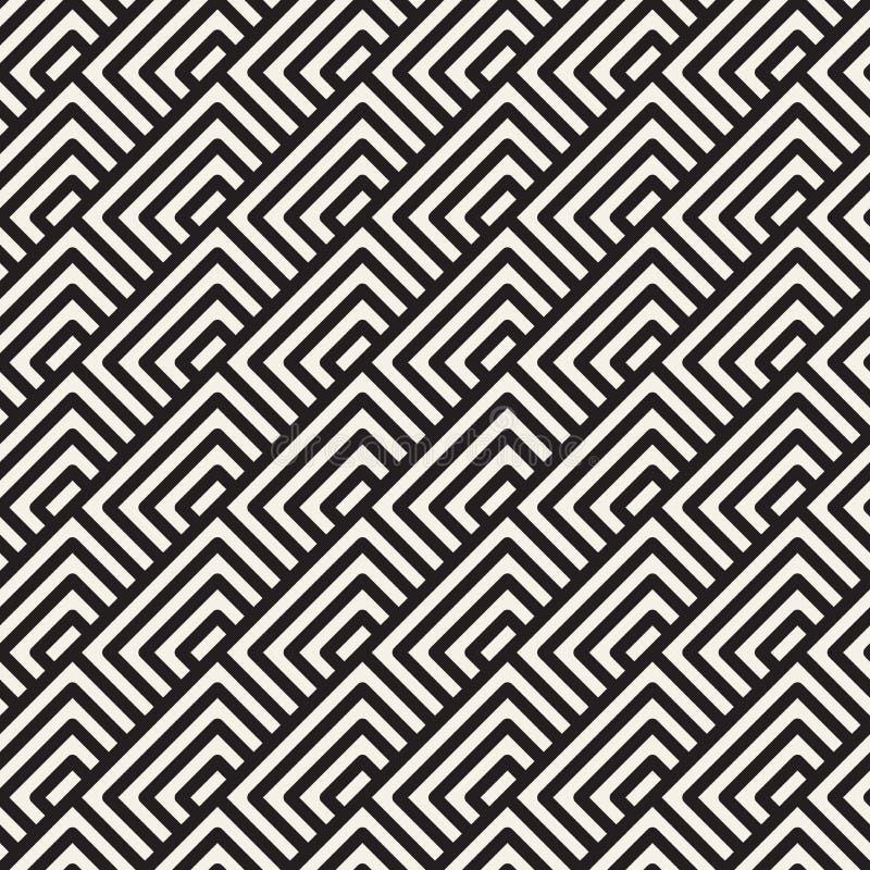 Vector o teste padrão sem emenda Ornamento listrado geométrico Linhas simples fundo da estrutura ilustração do vetor