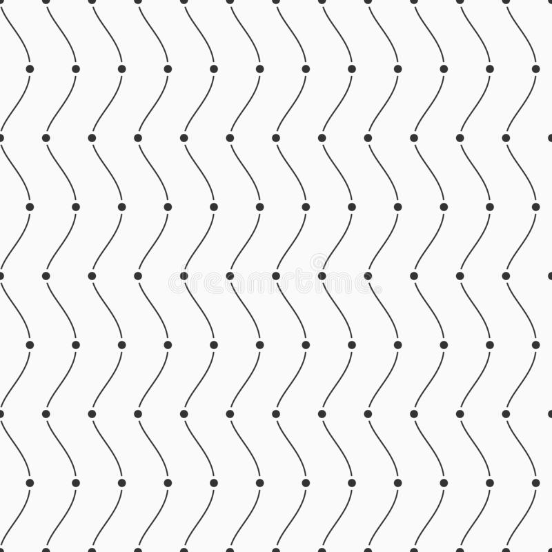 Vector o teste padrão sem emenda Pontos e linhas lisas ilustração do vetor