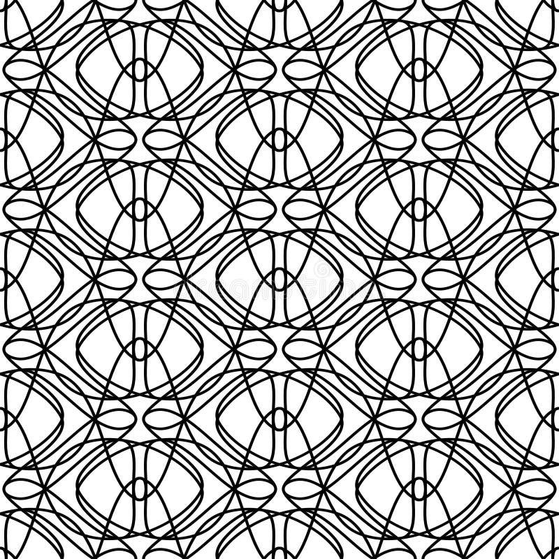 Vector o teste padrão sem emenda Repetindo a textura geométrica ilustração stock
