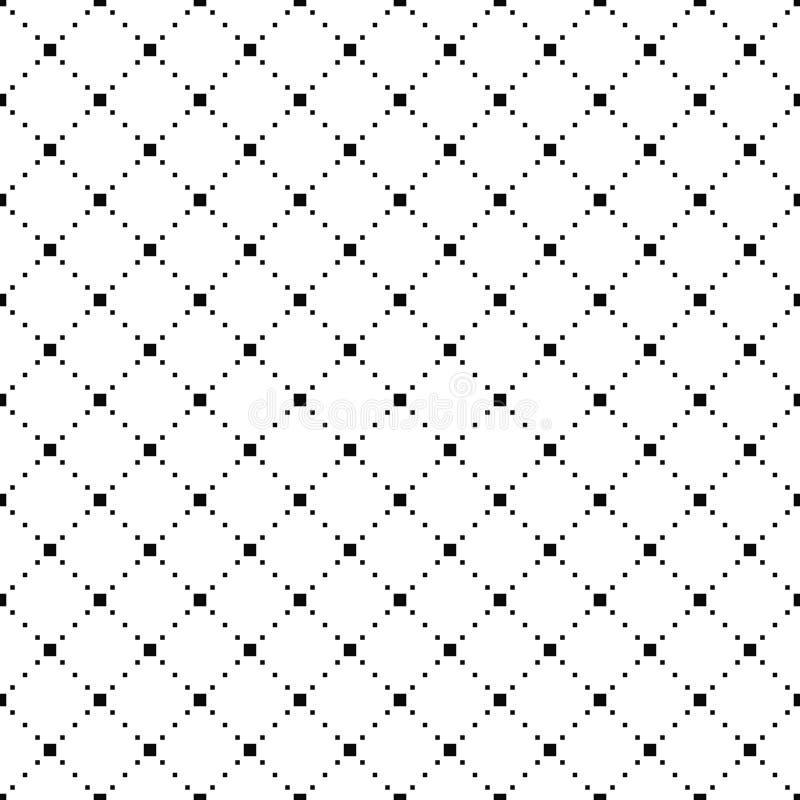 Vector o teste padrão sem emenda Textura à moda simples Fundo preto e branco Projeto minimalistic monocromático ilustração royalty free