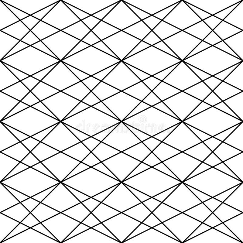 Vector o teste padrão sem emenda Textura abstrata à moda moderna Repetindo telhas geométricas dos elementos listrados ilustração stock