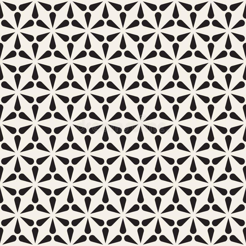Vector o teste padrão sem emenda Textura abstrata moderna Repetindo telhas geométricas das formas da pétala ilustração stock