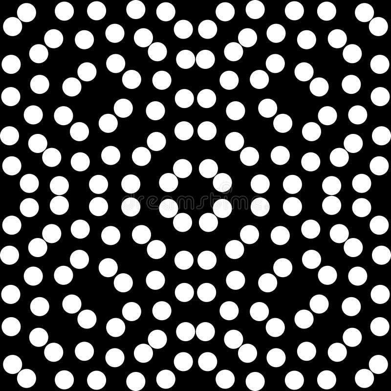 Vector o teste padrão sem emenda, textura de mosaico monocromática, b decorativo ilustração stock