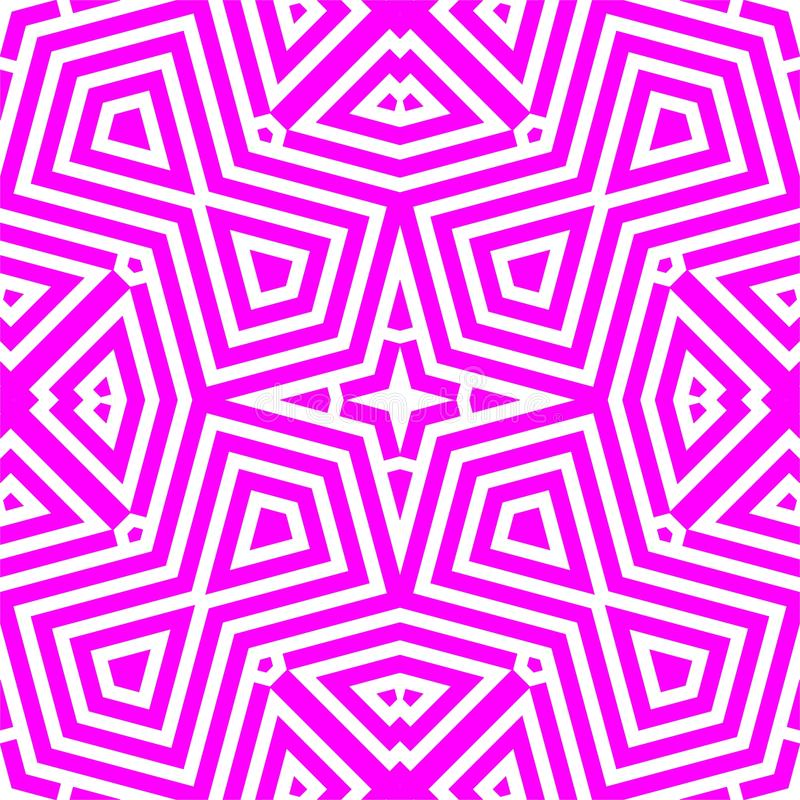 Vector o teste padrão sem emenda, textura de mosaico monocromática, b decorativo ilustração royalty free
