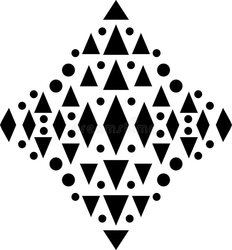Vector o teste padrão sem emenda, textura de mosaico monocromática, b decorativo ilustração do vetor