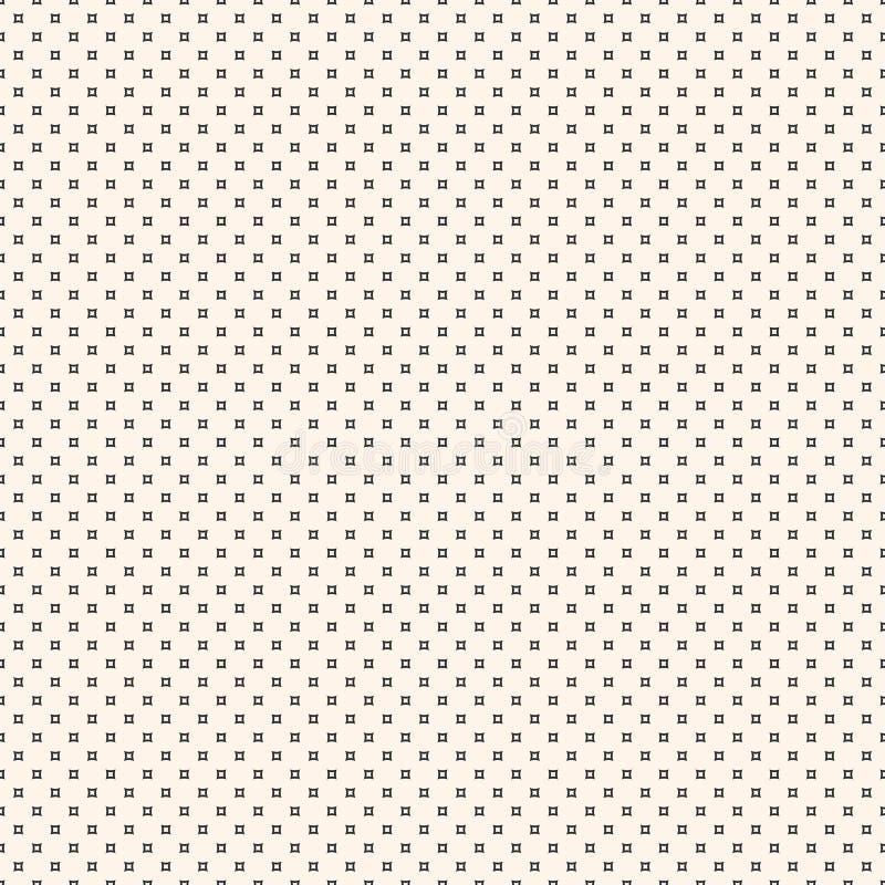 Vector o teste padrão sem emenda Textura minimalista simples, perfurada ilustração stock