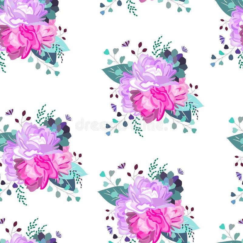 Vector o teste padr?o floral E ilustração royalty free