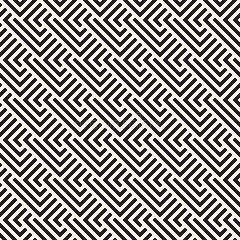 Vector o teste padr?o sem emenda Ornamento listrado geom?trico Linhas tileable simples fundo ilustração do vetor
