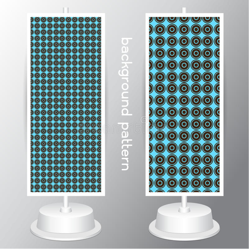 Vector o walpaper sem emenda do círculo do grupo de cores do preto do marrom azul do teste padrão em fundos cinzentos ilustração royalty free
