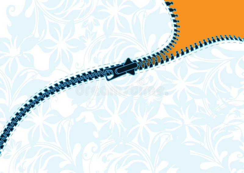 Vector o zipper ilustração royalty free