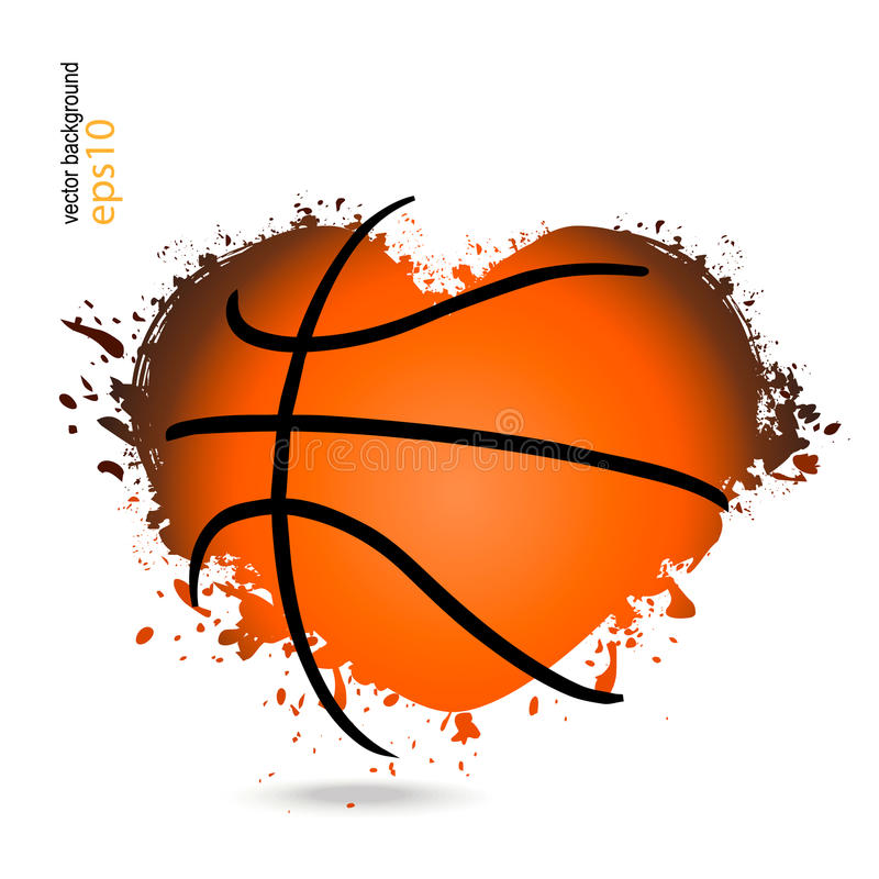 Vector object in the shape of a heart for basketball. royalty free stock photos