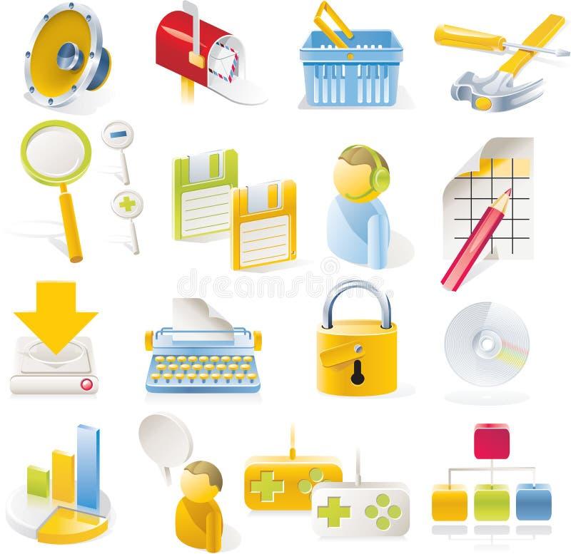 Vector objecten geplaatste pictogrammen. Deel 1 royalty-vrije illustratie