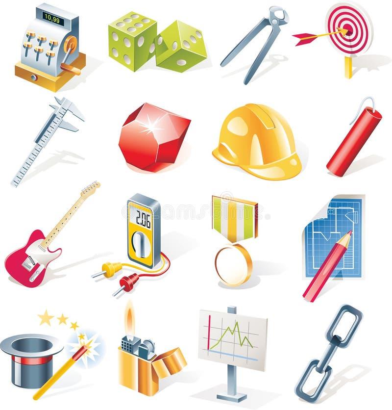 Vector objecten geplaatste pictogrammen. Deel 13 royalty-vrije illustratie