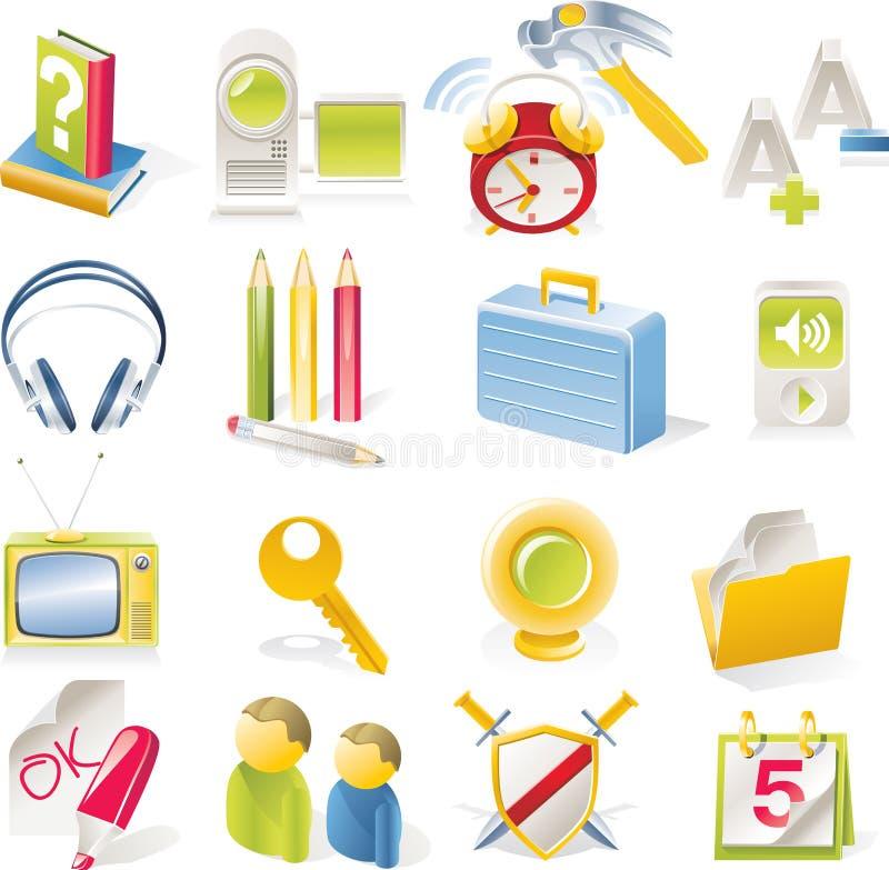 Vector objecten geplaatste pictogrammen. Deel 2 vector illustratie