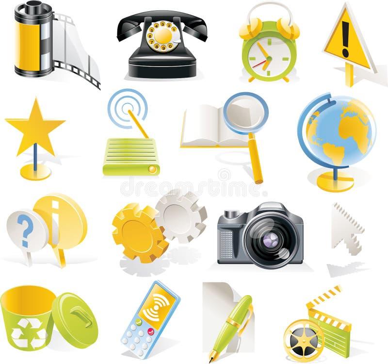 Vector objecten geplaatste pictogrammen. Deel 3 stock illustratie