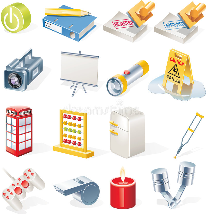Free Vector Objects Icons Set. Part 14 Stock Photos - 9203553