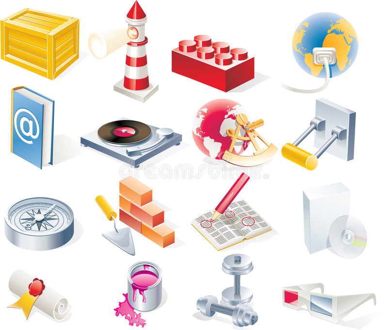 Download Vector Objects Icons Set. Part 15 Stock Photos - Image: 9298303