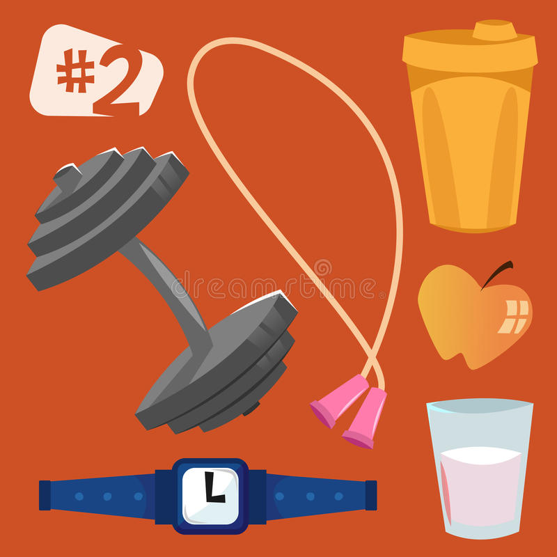 vector objects. Sports equipment. stock photography