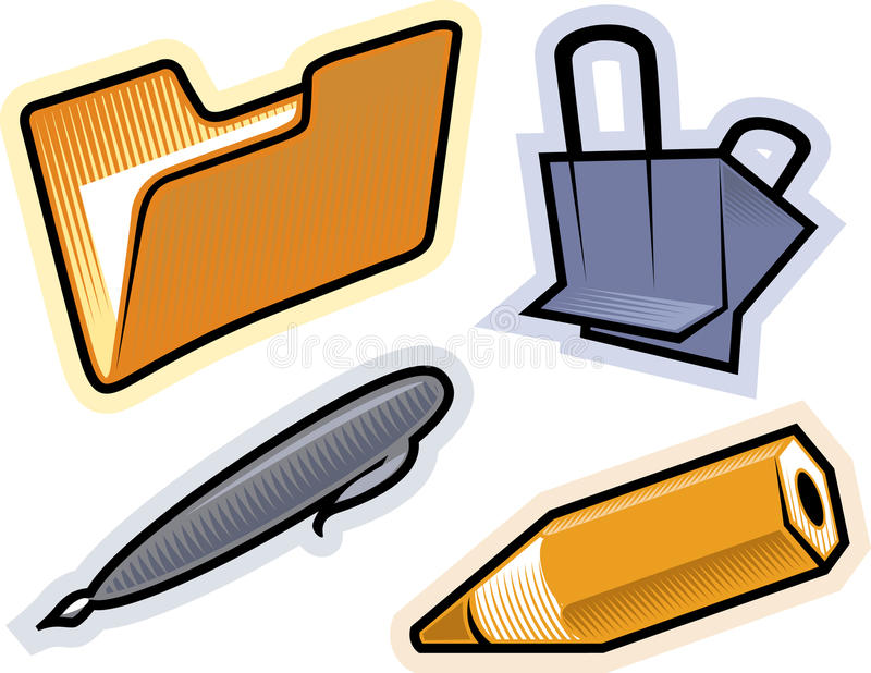 Download Vector Objects Of Stationery Stock Vector - Illustration: 10688944