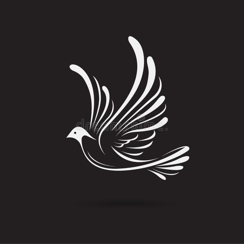 Free Vector Of BirdsDove Design On A Black Background,. Wild Animals. Bird Logo Or Icon. Easy Editable Layered Vector Illustration Stock Photo - 148216300