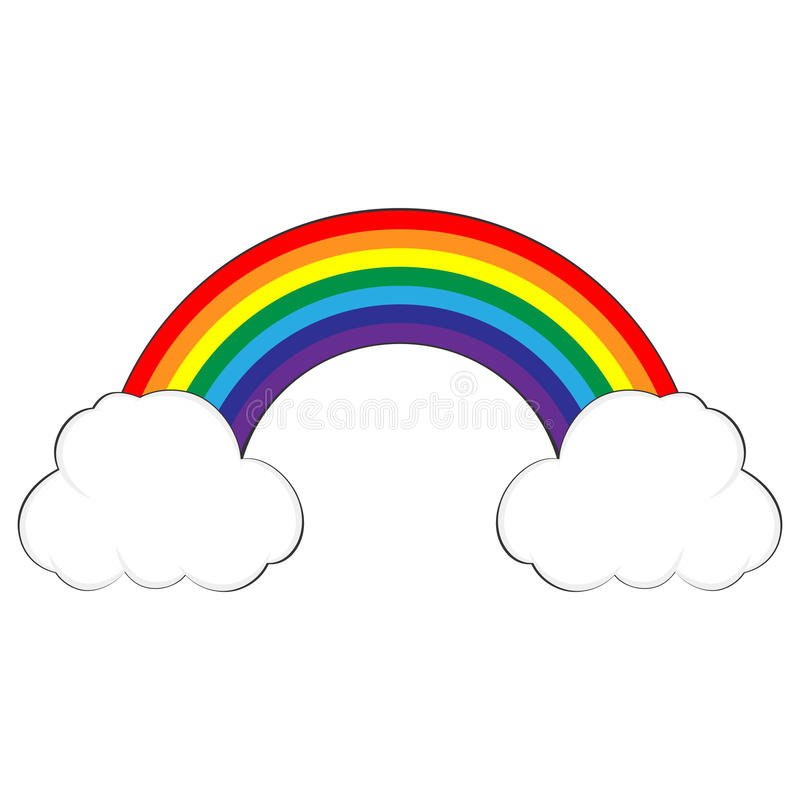 Free Vector Of Colorful Rainbow In Clouds Stock Photo - 66984830