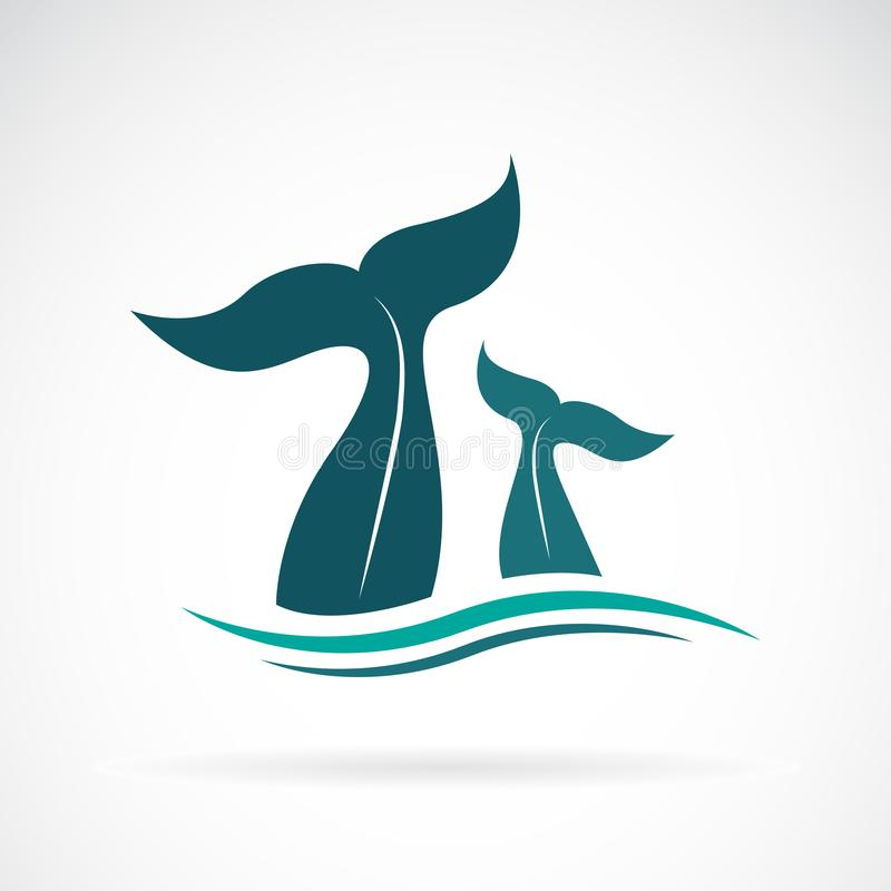 Free Vector Of Whale Tail Design On White Background. Animals. Royalty Free Stock Photography - 122579677