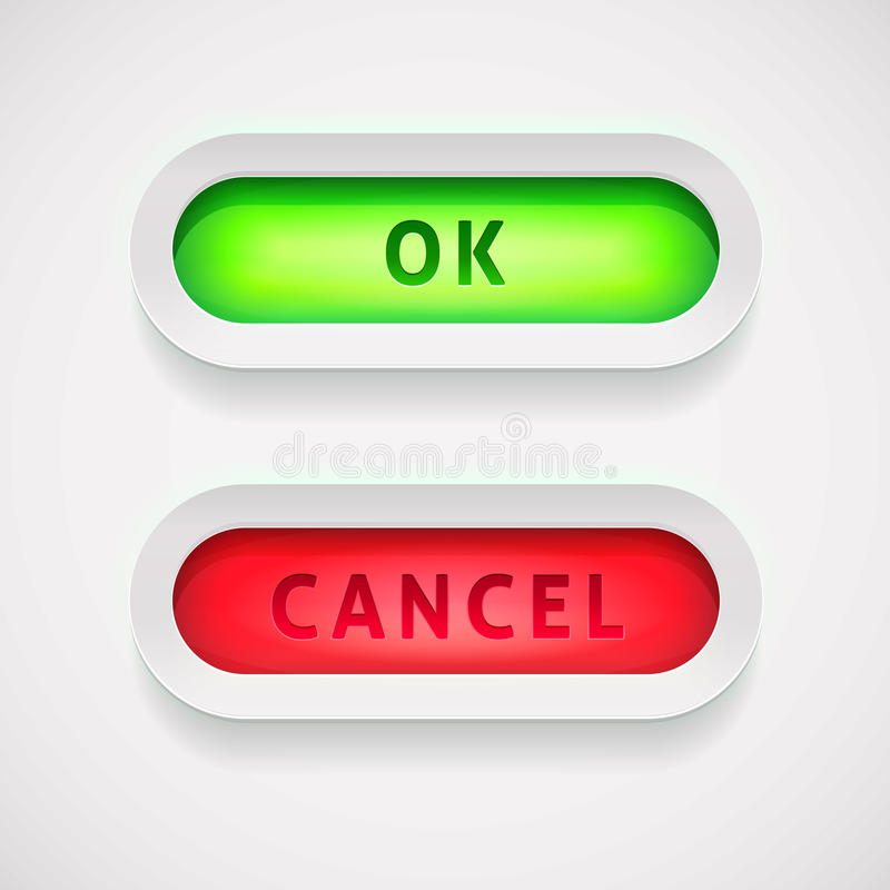 Download Vector OK And Cancel Button Stock Vector - Illustration of green, color: 24191130