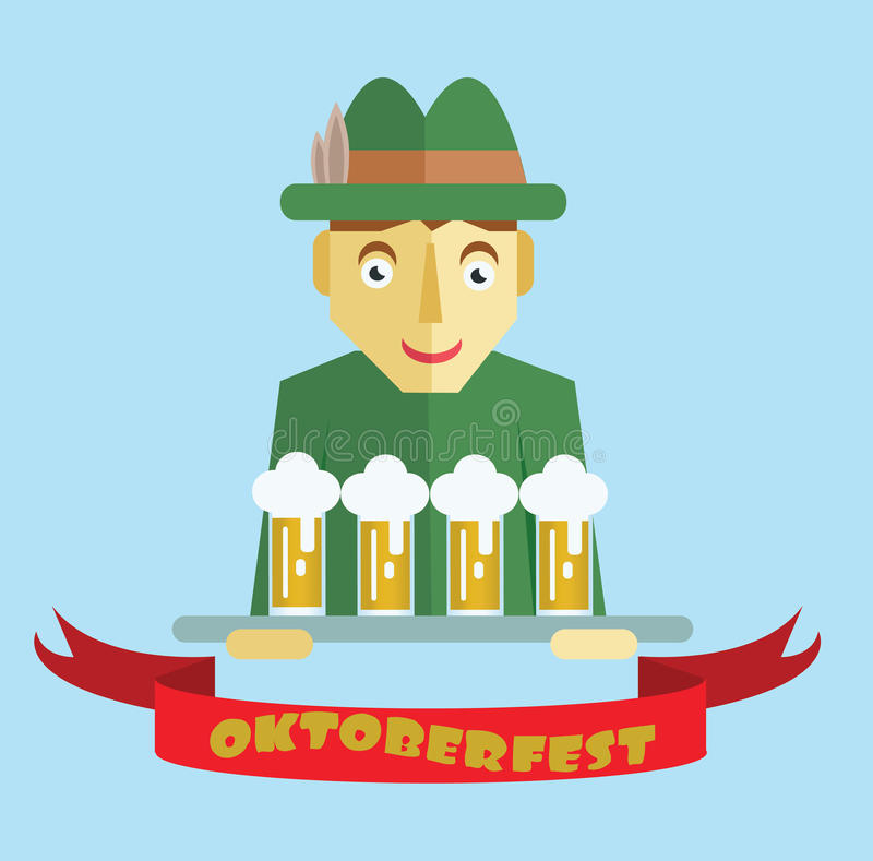 Vector Oktoberfest beer festival vector illustration