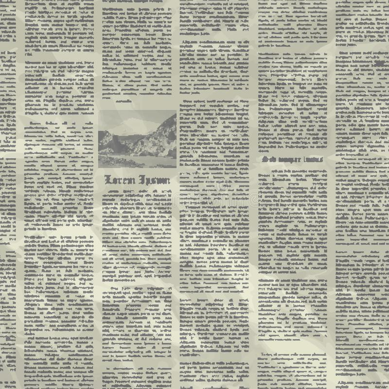 Vector old newspaper background texture. royalty free illustration