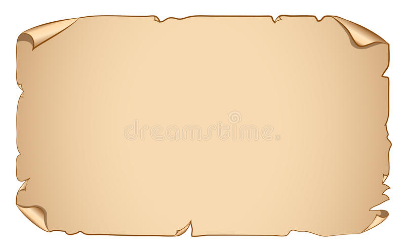 Vector old paper scroll banner royalty free illustration